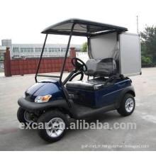 Voiturette de golf électrique 2 places avec une voiture de rangement