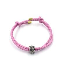 OEM moda pulseiras jóias personalizadas talão encanto pulseira de couro