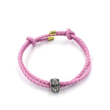 OEM Fashion Bracelets Jewelry Custom Bead Charm Leather Bracelet