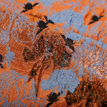 Hot Orange Polyester Jacquard für Kleid