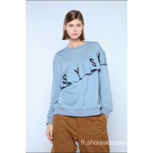 SWEAT-SHIRT FEMME À VOLANTS