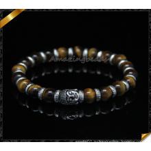 Браслеты с тигровыми глазками, браслеты из серебра Spacer Silver (CB095)