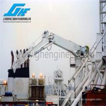 Capacidad de carga de 5 toneladas Grúa de elevación pesada, brazo de nudillo con cabrestante Opcional