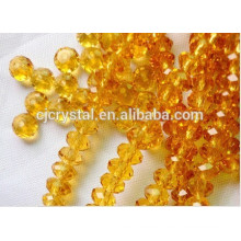 Granito de diamantes falsos granos de cristal rondelle
