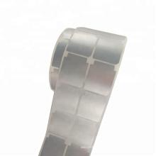 Étiquette d'impression thermique argent mat résistant aux rayures, imperméable à l'eau, imperméable à l'eau, étiquette en polyester polyester électronique