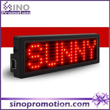 Tag conhecido do crachá da identificação da exposição de diodo emissor de luz da etiqueta do nome do diodo