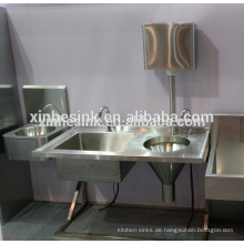 Slop Hopper Spüle mit Wasserzisterne für Krankenhauswaschbecken