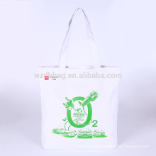Custom Eco Reusable Cotton Standard Size Canvas Tote Shopping Bag