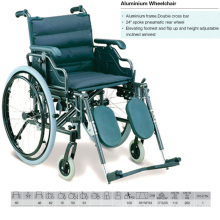 Height Adjustable Armrest Aluminum Wheelchair