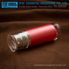 YB-WA40 40ml (20 ml x 2) Dicke hochwertige Kosmetik Pmma dual-Tube Lotion Flasche