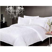 Cetim luxo Hilton Hotel folha plana cabido folha travesseiro caso conjunto de cama