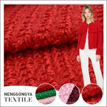 Chine personnalisé Différents types de tissu en laine de tweed à la mode