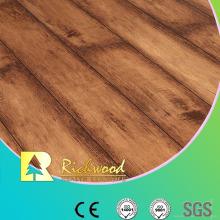 12.3mm Woodgrain Texture Maple V-Grooved Sound Absorbing Laminate Floor