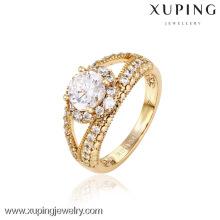 12745- China Xuping Fake 18k Gold Jewelry Hermosa mujer anillos
