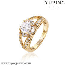 12745- Chine Xuping faux 18k bijoux en or belle femme anneaux