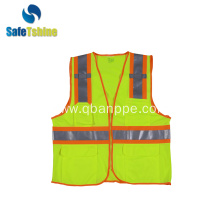 mesh safety vest with pockets