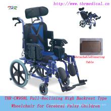 Silla de ruedas manual THR-CW958L para niños con parálisis cerebral