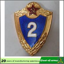 Emblema personalizado do protetor do metal / brasão