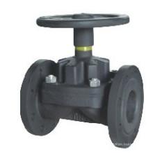 Válvula de diafragma tipo Weir de hierro fundido