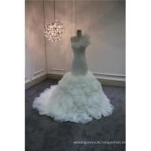 Detachable Skrit Organza Mermaid Bridal Gown Wedding Dress
