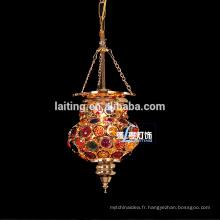 Ltern pendentif marocain, or décoration marocaine lampe