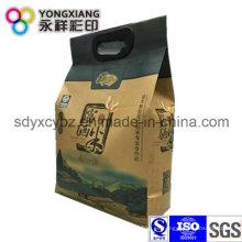 Bolsa de embalaje de arroz de papel Kraft personalizado