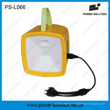 Lanterna de rádio de acampamento recarregável das energias solares com o carregador solar do telefone móvel