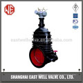 Stem gate valve wedge type
