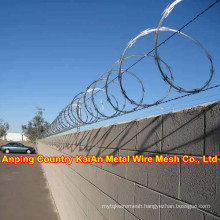 Fence Barbed Wire / Barbed Razor Wire /Galvanized Razor Wire / PVC coated razor wire / barbed wire ---- 30 years factory