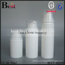 15/30/50ml pp airless cosmetic bottle with pump, plastic airless pump bottle, airless cosmetics lotion bottle for sale