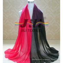 DIP Dye Scarf 2016 Fashion 100% Viscose S Hijab Scarf with Glitter