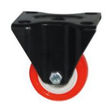 Light Duty Type Little Kingkong Red PU Wheel Caster (Kxx1b)