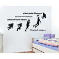 Basketball Player Design Kids Bedroom Decorative Wall Stickers