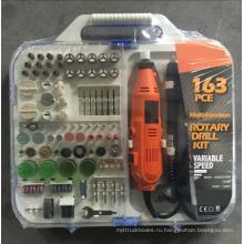135W Портативный хобби мини шлифовальный роторный набор принадлежностей инструментов с гибким валом Handheld электрический 163pcs Multi Tool Kit