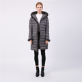 Winter Designer Long Hooded Warm Down Jacke Damen