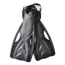 Aletas de mergulho livre para treino de natação ajustável para adulto