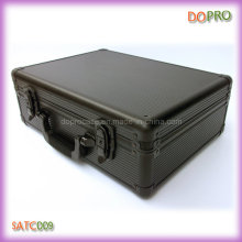 Etui à outils en aluminium ABS à rayures noir rayé (SATC009)