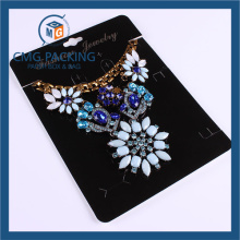 High Sales Black Plastic Card Gold Printed Necklace Display Card