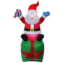 Aufblasbare Weihnachtsfigur des Weihnachtsmannes