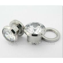 Body Piercing Jewelry Big Gauge Zircon Ear Plug Expander