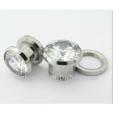 Body Piercing Jewelry Big Gauge Zircon Ear Plug Expander