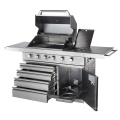 Ce Full 304 cocina de acero inoxidable al aire libre de barbacoa de gas