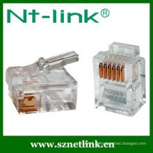 Rj12 6p6c cat3 plug modular