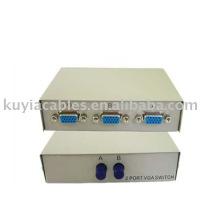 Interrupteur de partage de boîte à commutation de moniteur VGA de 2 ports de 2 PC à 1 moniteur