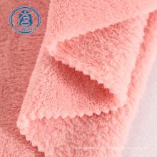 tela de terciopelo tela de lana coral 100% poliéster