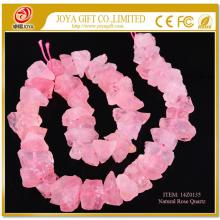 Natural Raw Rough Rose Quartz Beads no polished