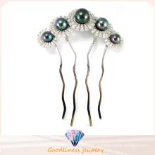 Женщина очарование моды ювелирные изделия с родием покрытые цветок 925 серебряные украшения шпильки (H0002B)