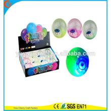 Juguete de la venta caliente del juguete de goma LED que destella iluminado por los ojos de iluminación de la bola de despedida de agua