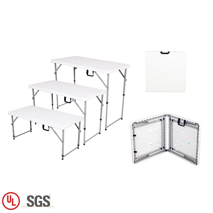 4ft Adjustable Plastic Table