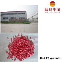 Восстановленный красной PP пластиковые гранулы
